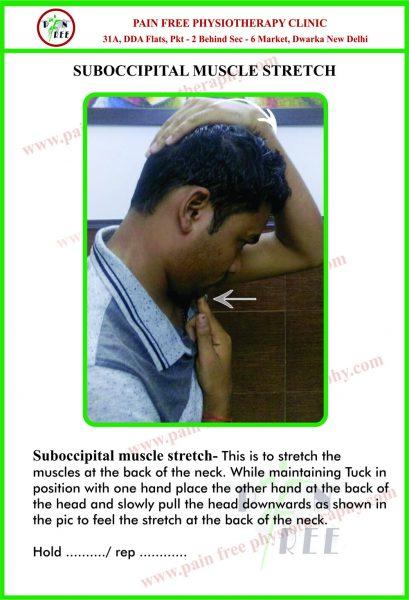 Sub Occipital Stretch